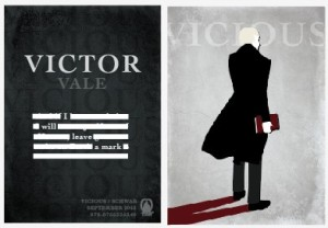 Victor Vale trading card given by V. E. Schwab to reviewers